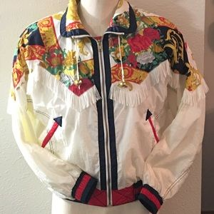 Vintage 90's East West Windbreaker Jacket W Fringe